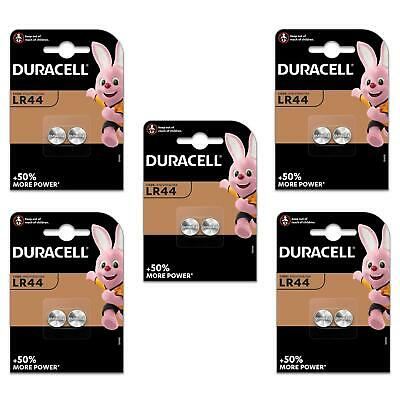 10x Duracell LR44 Long Lasting Alkaline Batteries 1.5v Coin Button Cell Battery