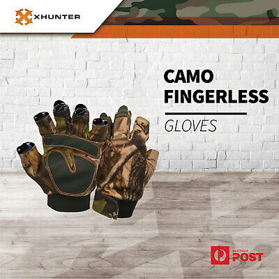 Xhunter Realtree Camo Fingerless Gloves For Hunting Shooting Water Resistant