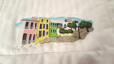 Handmade Puerto Rico Souvenir Wall Plaque/key Holder 3D Tourist Attractions