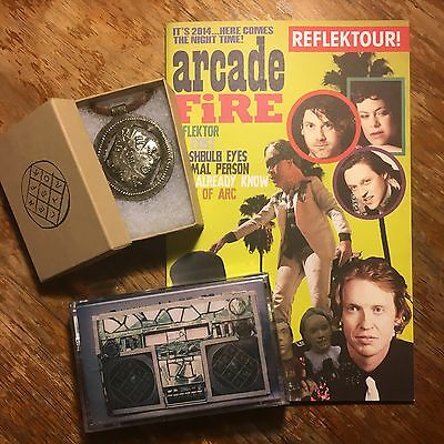 Arcade fire REFLEKTOR Tour Official Merch - Program Book, Cassette Tape, Pendant