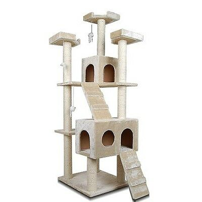 Cat Scratching Post Tree Gym House Furniture Scratcher Pole Toy Large 185cm