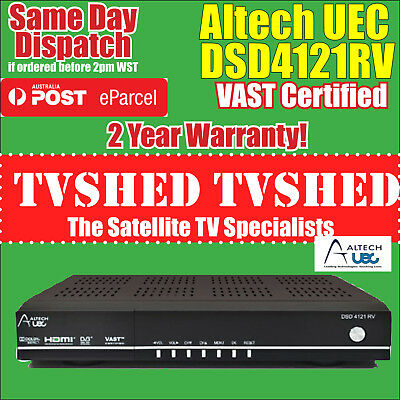Altech UEC DSD4121RV VAST Satellite Receiver Decoder Priority Shipping Available