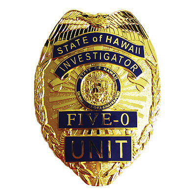 NEW GEN State of Hawaii Investigator Hawaii Five-O Unit Replica Prop Pin Badge!