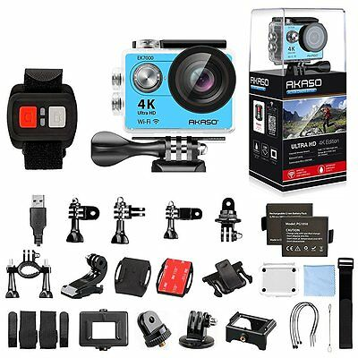 Sports Action Camera Ultra HD Waterproof Mounting Kit 4K WIFI DV Camcorder 12MP