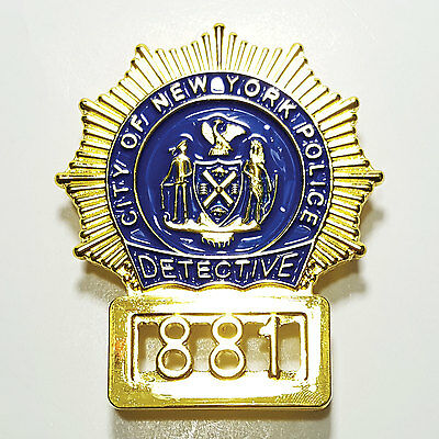 John McClane Die Hard Movie Prop Badge City of New York Police Detective 881