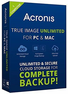 Brand New Acronis True Image Unlimited for PC & Mac [Key Only]
