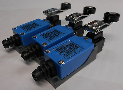 3x (THREE) METAL ROLLER ARM LIMIT SWITCH  COMPACT MICRO POSITION ME-8104 DZ-8104