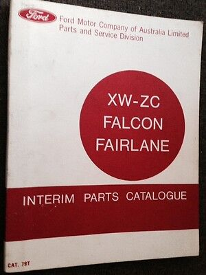 ford FALCON XW GT FAIRLANE ZC original 04/ 1969 parts catalog 1st one everissued