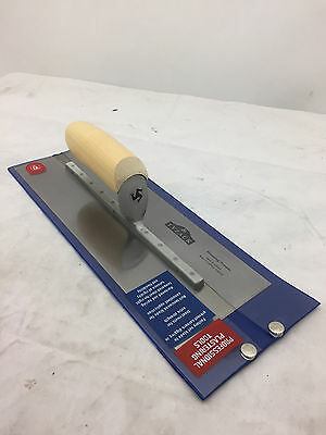 """WHS Tyzack Stainless Steel Ready to Go Finishing Trowel Wood Handle 13"""" x 4 5/8"""""""
