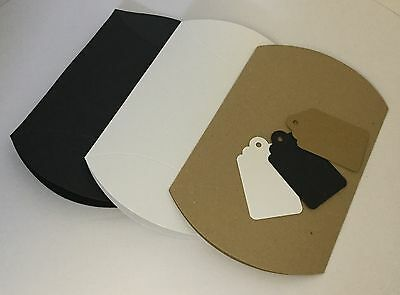 Card Pillow pack Boxes, Gift or Wedding Favour Boxes, with free gift tags