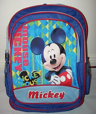 New Large MICKEY MOUSE Boys Backpack/School Bag 40 x 30 x 15cm