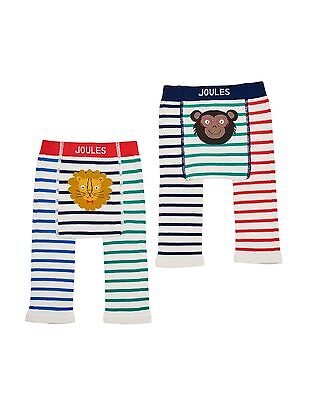 *BNWT* Baby Joules Boys Lively Leggings 2 Pack Jungle Lion Monkey Striped Warm