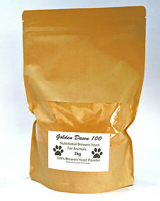 100% Brewers Yeast Powder For Dogs, Horses Equestrian Natural Probiotic Vitamins