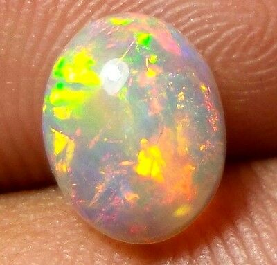 9x7 MM Natural Ethiopian Rainbow Flash Opal Calibrated Oval Cabochon 1 Stone