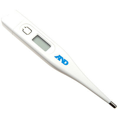 A&D Medical Thermometer, Digital, Fever Alarm, Recall Function, For Home Use