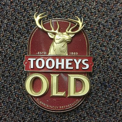 Toohey's Old Beer Tap Badge, Decal, Top