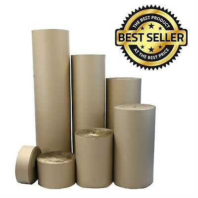 CORRUGATED CARDBOARD ROLLS Paper Strong Packaging Packing Posting Pack 75m