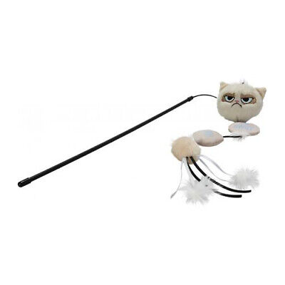 Rosewood Pet Products Grumpy Cat Cat Toy Annoying Plush Wand 42cm