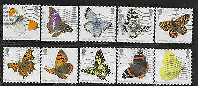 1) GB Stamps  2013 Butterflies Full Set Good Used.