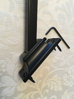 Iron Spindle/Baluster Shoe Bracket Holds 12mm Square Bar (For angled stairways)