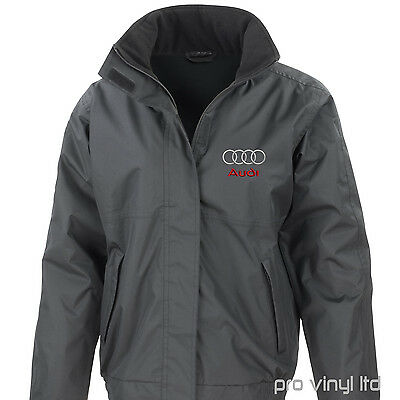 Audi Embroided Result Core Jacket StormDri Fleece Lined S Line A3 A6 Q7