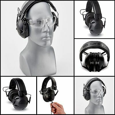 3M High Quality Peltor Tactical 100 Earmuffs Electronic Hearing Protector, Black
