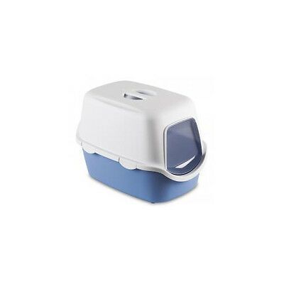 Cathy Hooded Cat Toilet Blue With Filter 56x40x40cm