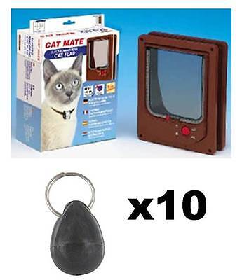 Pet Mate 254b Cat Mate Electromagnetic Pet Door 4 Way Locking with 10 magnets