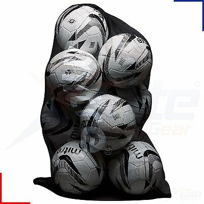 Mitre 10 Ball Black Mesh Net Carry Football, Netball, Rugby Balls Bag