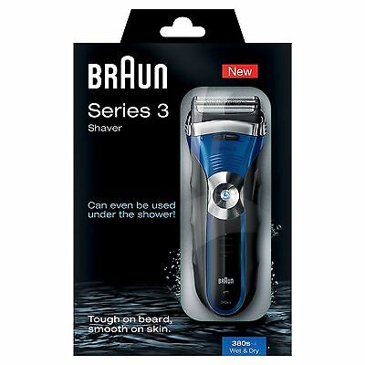 Braun Wet & Dry Rechargeable 380s-4 Electric Shaver *2 Year Warranty* New