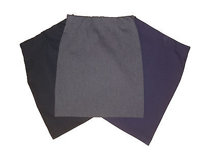 Tube-Skirts-Plain-Full Stretch**school*black-Navy-Grey-Bottle Green-5-15Yr*sale*