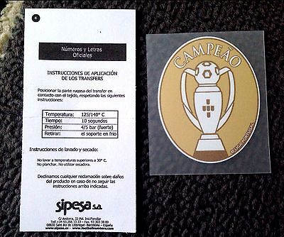 2014-16 BENFICA Liga Nos CAMPEAO Champions SIPESA Football Badge Patch NEW