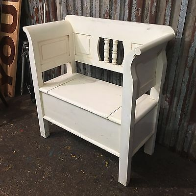 Shabby Chic Painted Pine Hallway Seating Boot Bench Farmhouse Rustic Small