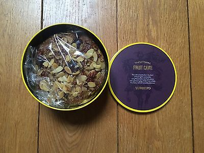 New Selfridges & Co Traditional Rich Fruit Cake Made In UK 450g Pecans Almonds