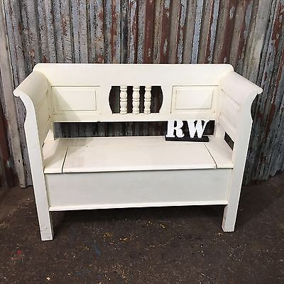 Shabby Chic Painted Pine Hallway Seating Boot Bench Farmhouse Rustic Large