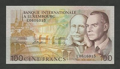 LUXEMBOURG - 100 francs  1981  P14A  Uncirculated  ( Banknotes )