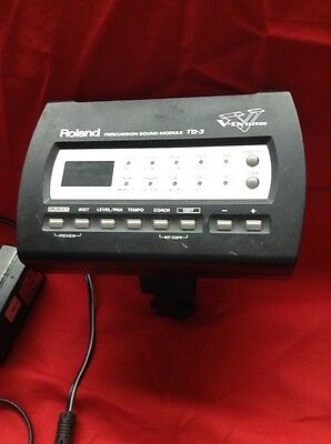 Free P&P Roland TD-3 Drum Module Brain for Electronic Drum Kit. Power Lead Clamp