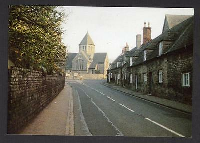 """""""MILL ROAD AND CATHOLIC CHURCH, OUNDLE""""  Postcard Northamptonshire"""