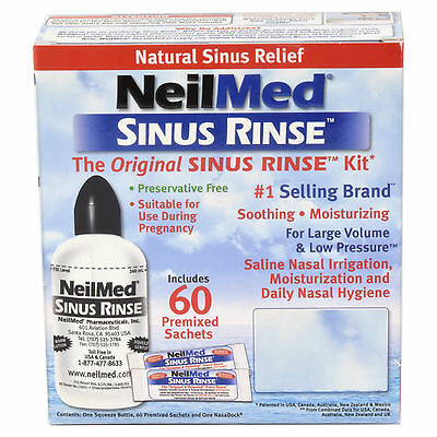 NeilMed Sinus Rinse Regular Kit 60 Sachets & Irrigator
