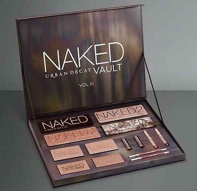 Urban Decay Naked Vault 3 2016 Make Up Gift Set Palette Limited Edition Sold Out
