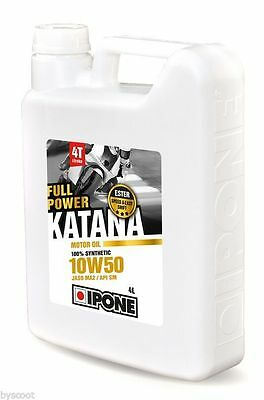 Huile IPONE Katana Full Power 10W50 4 litres moto route circuit compétition 4L