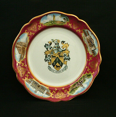 """Spode China plate """"The Huddersfield Borough Plate 1868-1974"""" limited edition box"""