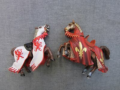 Schleich PAPO toy knights horses