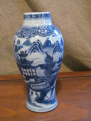 Antique Chinese Porcelain Vase Blue & White Tea Caddy Jar