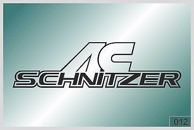 AC SCHNITZER - sticker on car - HIGH QUALITY - different colors - №0012