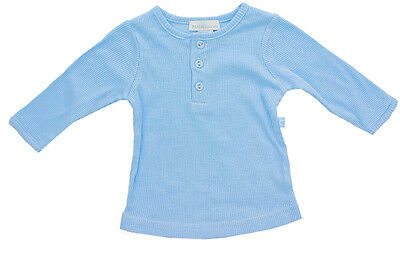 Trendy Baby Boys Blue Grandpa Style Long Sleeve Cotton Top - New - SALE
