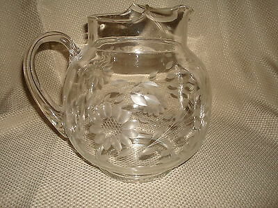 Hughes Cornflower Large Ball Pitcher With Ice Lip Vhtf