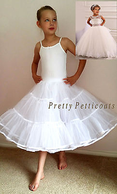 FLOWER GIRL CHILD PETTICOAT COMMUNION  BRIDESMAID UNDERSKIRT 4Y to 15 Year