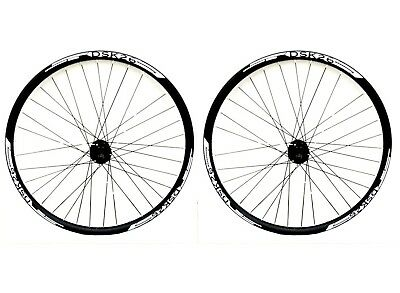 "26"" White Qr Disc Brake Mtb Wheels 8/9/10 Speed Cass , White Double Wall V Rims,"