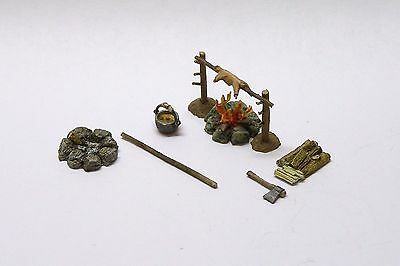 Minishire Scenery- 28-32mm Camp Fire. Wargames & RPGs. Metal